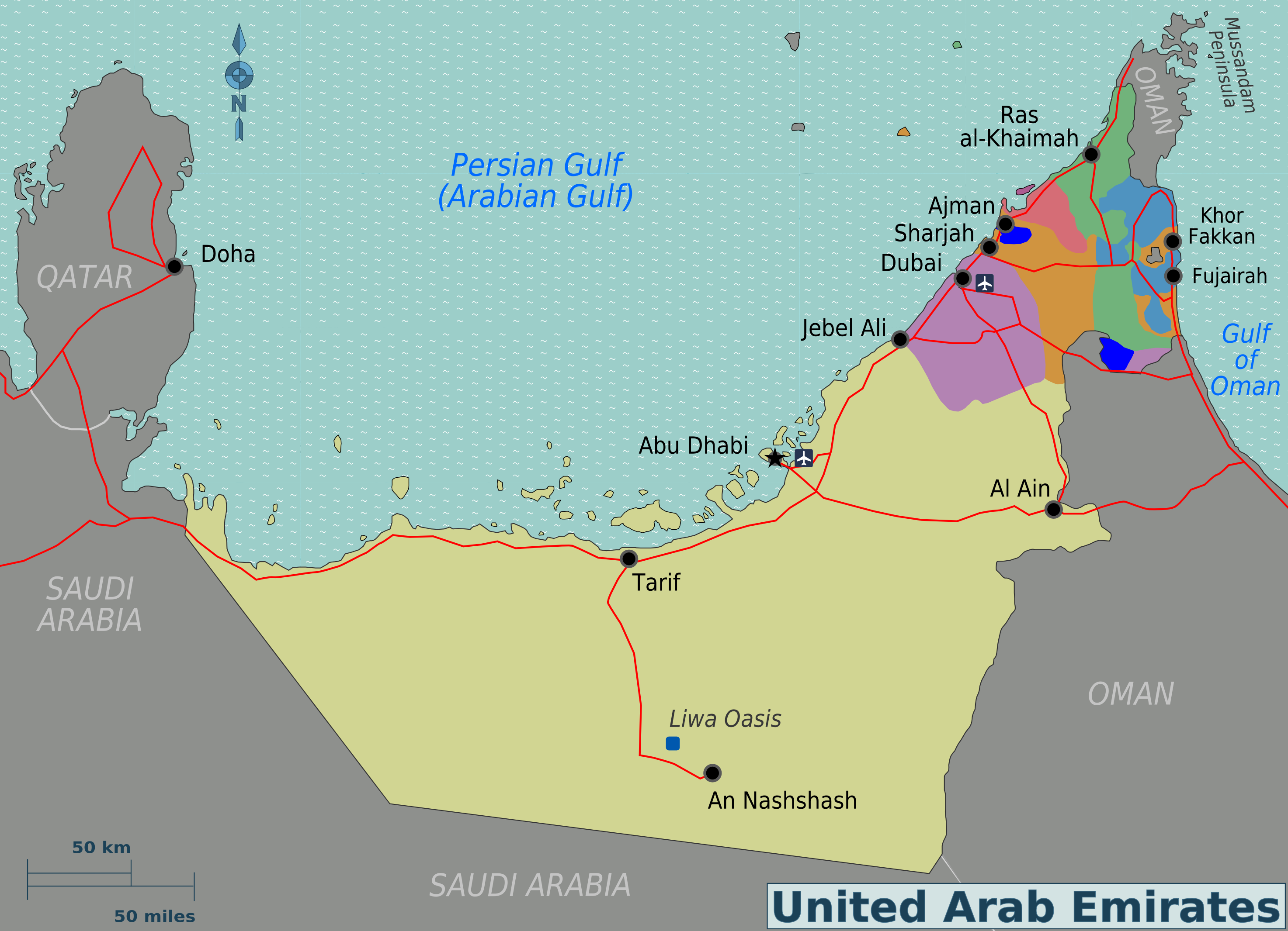 World travels united arab emirates the swiss rock uae region map sciox Gallery