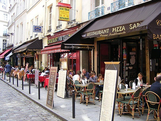 Some of the many French cafes in Paris