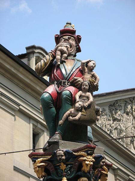 Kindlifresserbrunnen Fountain or 'Child Eater Fountain', Bern