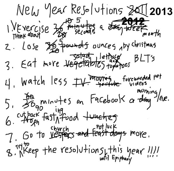 Don't forget to keep your New Year's Resolutions!!