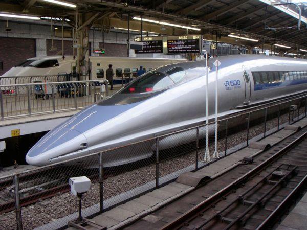 The Shinkansen high speed train. What a beauty!