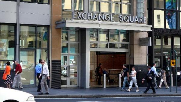 Sydney Securities Exchange in the financial district.