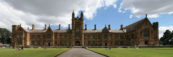 Sydney University, established in 1850