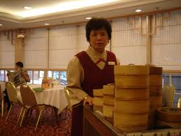 The wonderful lady that brought the Dim Sum to me!