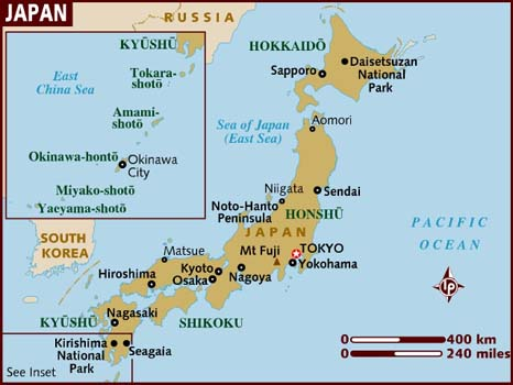 The Map of Japan