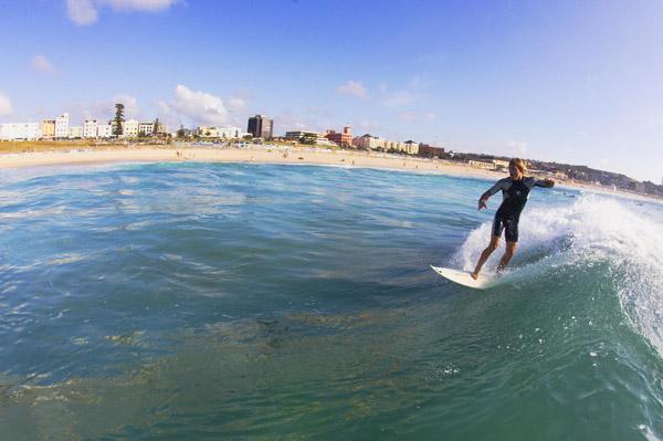 Surfing Bondi Beach, Sydney