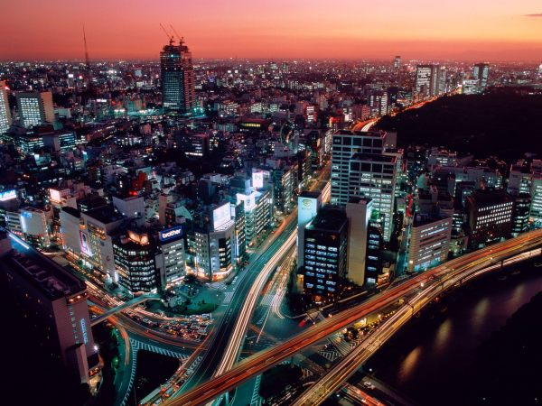 City view of Tokyo, Japan