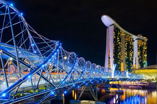 The Helix Bridge at the Marina Bay Sands Hotel & Casino, Singapore