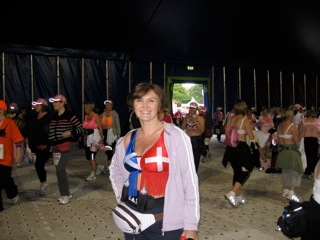 Swiss/UK flag bra, Moonwalk 2008/2009