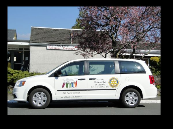 The Rainbow Kitchen's Van named 'Vanessa' donated by the Rotary Club of Victoria