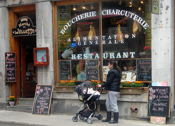 French is seen and heard throughout Montreal.