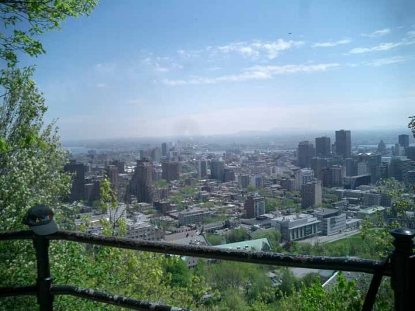 The view of Montreal from Mount Royal