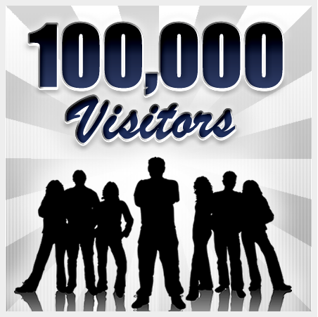 100,000 Visitors!! Thank You!! | The Swiss Rock