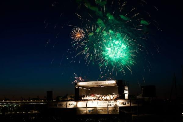 Fireworks Finale over Victoria Inner Harbor.